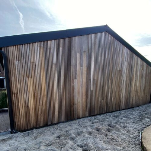Gevelbekleding in Thermowood populier